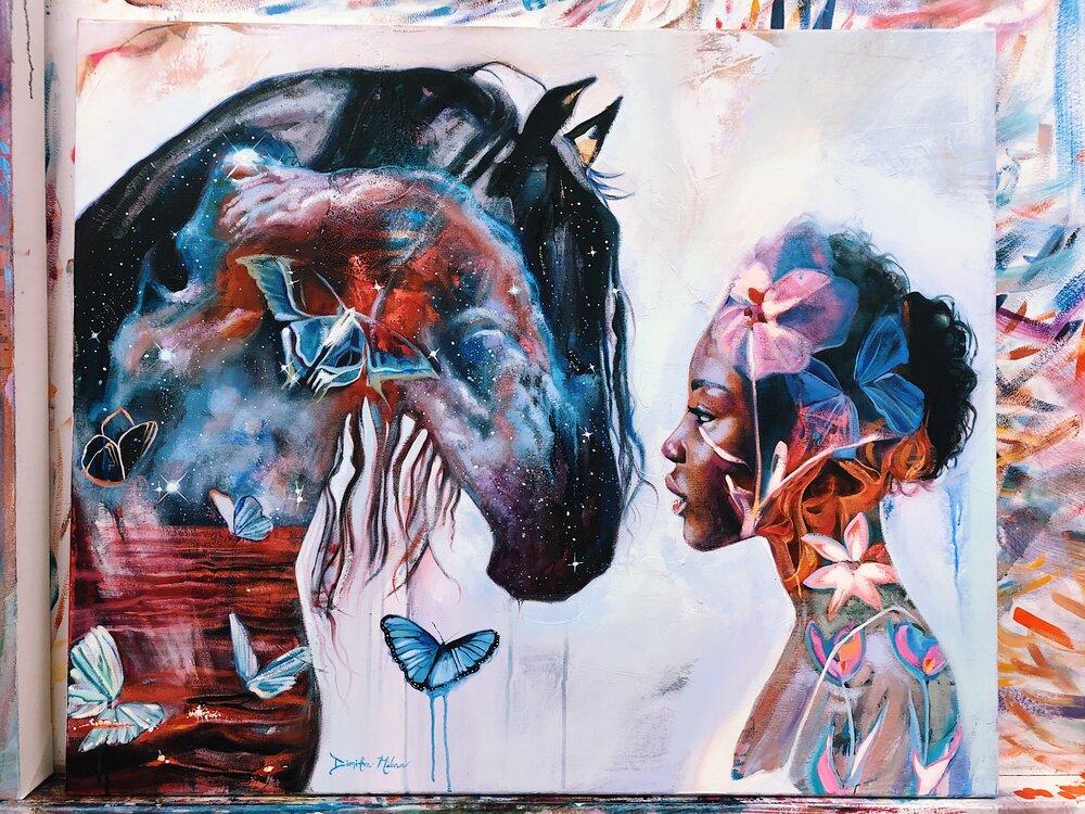 Dimitra Milan Woman Painting